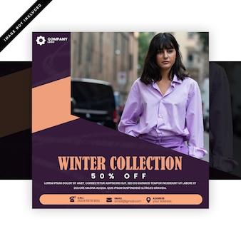 Mode instagram post of vierkante flyer