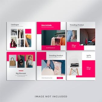 Mode instagram post-sjabloon