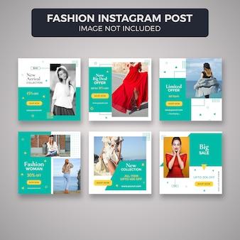 Mode instagram post sjabloonverzameling