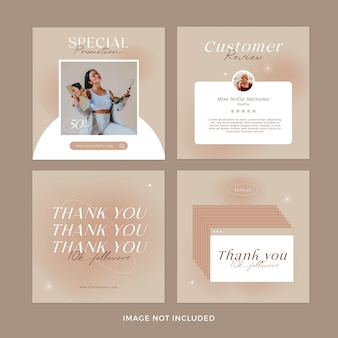 Mode instagram postbanners set