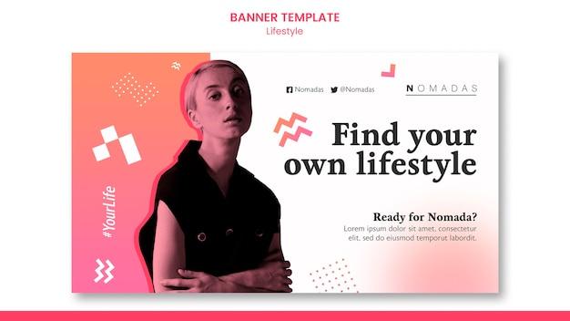 Mode levensstijl horizontale banner