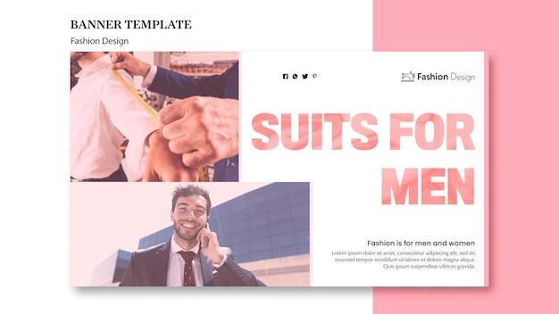Mode ontwerp banner concept