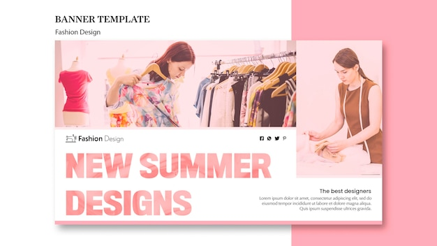 Mode ontwerp banner ontwerp