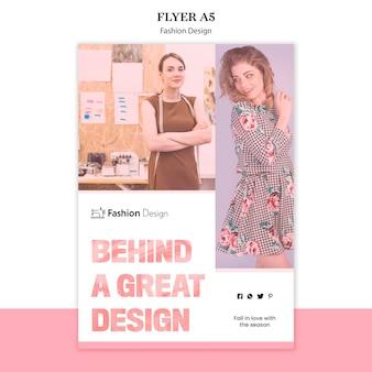 Mode ontwerp flyer