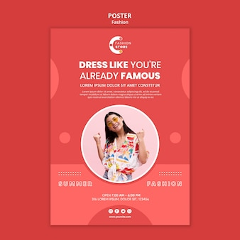 Mode poster sjabloon stijl