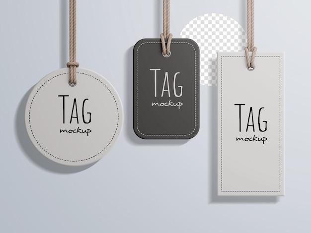 Mode prijslabel tag mockup-collectie