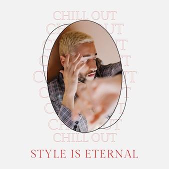 Mode psd-sjabloon social media post voor mode- en lifestylemagazine