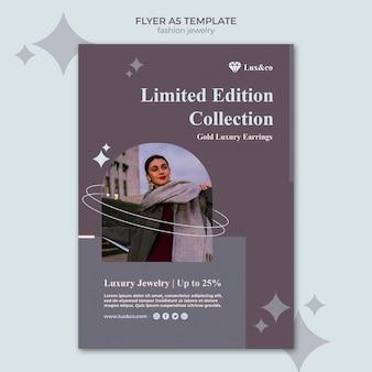 Mode-sieraden afdruksjabloon met foto