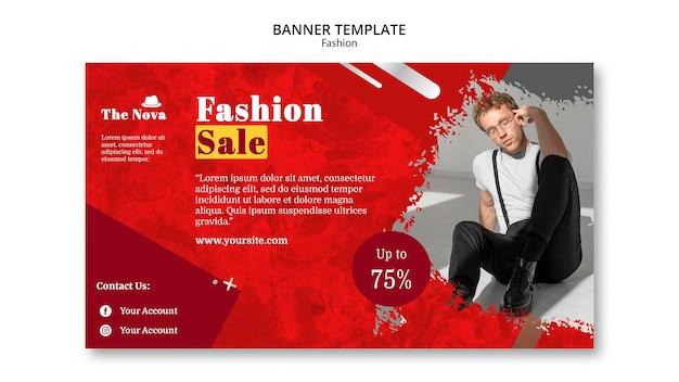 Mode-sjabloon voor spandoek met foto
