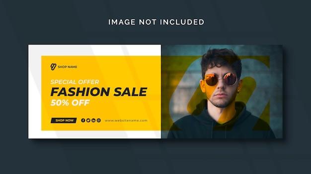 Mode sociale media-banner of sjabloon voor sociale media Gratis Psd