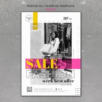 Mode verkoop afdruksjabloon
