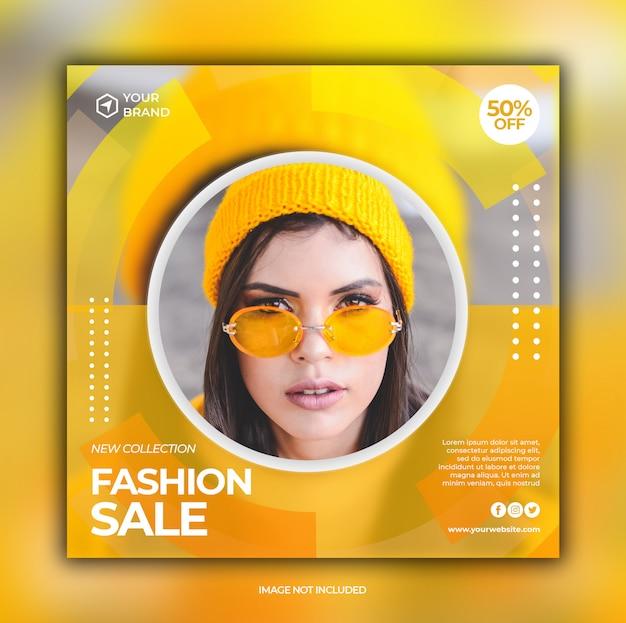 Mode verkoop banner voor sociale media postsjabloon