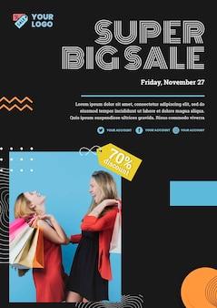 Mode verkoop concept poster sjabloon