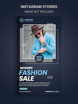 Mode verkoop en dynamische instagram verhalen ontwerpsjabloon