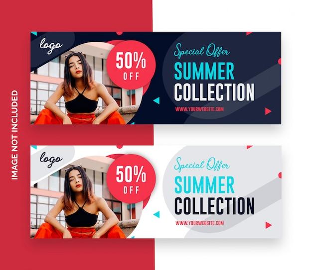 Mode verkoop facebook covers sjabloon