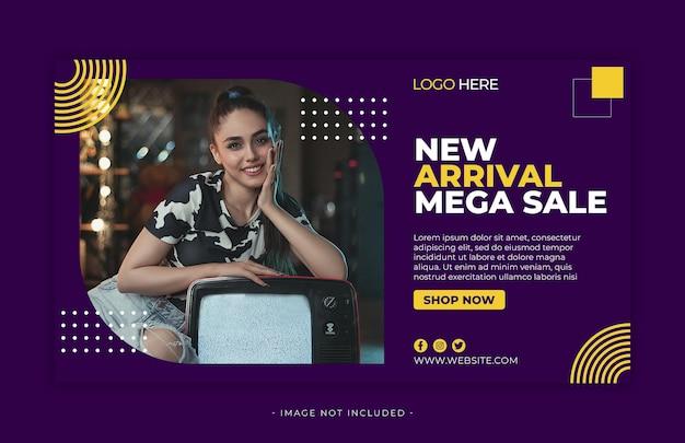 Mode verkoop facebook social media sjabloon banner premium psd