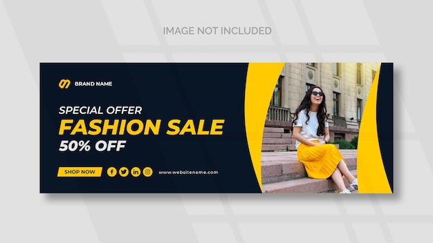 Mode verkoop facebook sociale media sjabloon voor spandoek