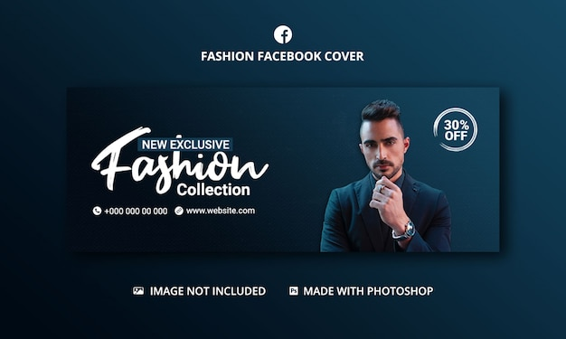 Mode verkoop facebook voorbladsjabloon voor spandoek