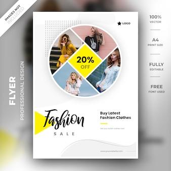 Mode verkoop flyer sjabloon
