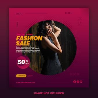 Mode verkoop instagram banner post