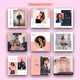 Mode verkoop instagram post sjabloon