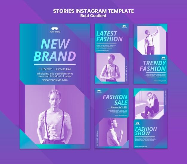 Mode verkoop instagramverhalen