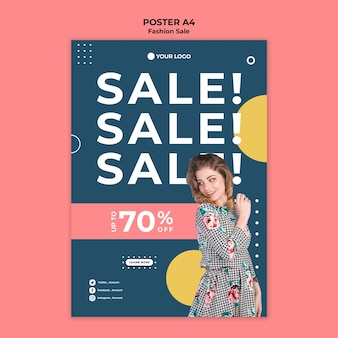 Mode verkoop poster sjabloon thema