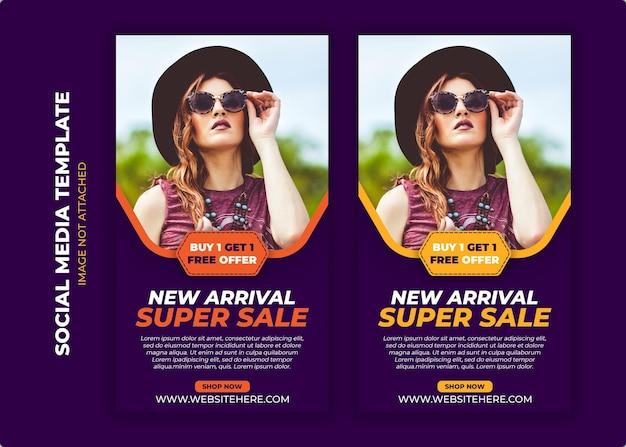 Mode verkoop promotie banner premium psd