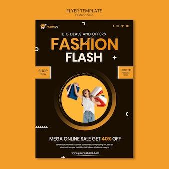 Mode verkoop sjabloon folder