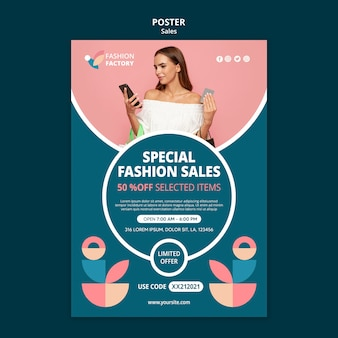 Mode verkoop sjabloon poster