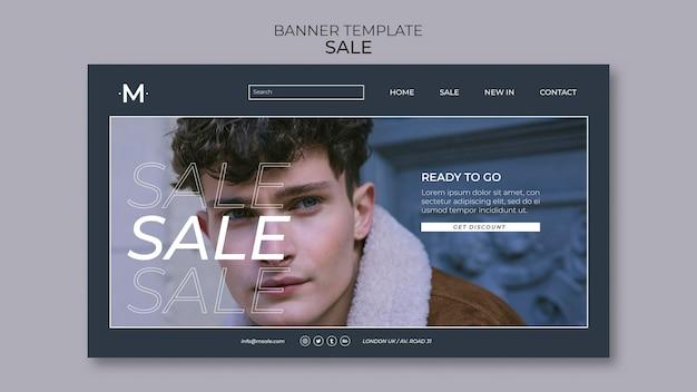 Mode verkoop sjabloon voor spandoek Premium Psd