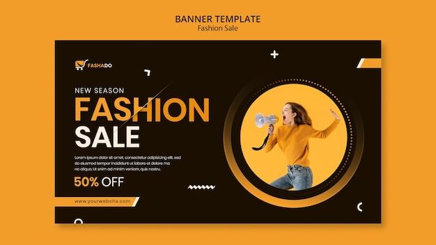 Mode verkoop sjabloon voor spandoek