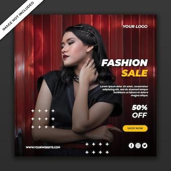 Mode verkoop social media postsjabloon