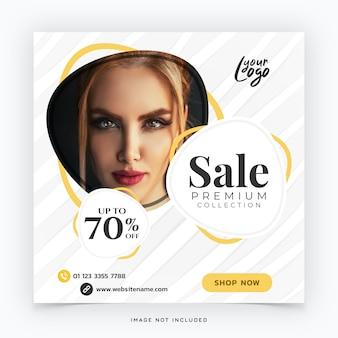 Mode verkoop sociale media banner