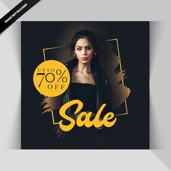 Mode verkoop sociale media berichtsjabloon
