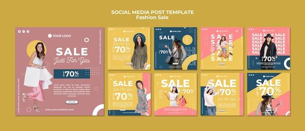 Mode verkoop sociale media plaatsen