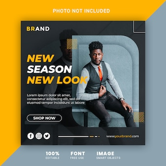 Mode verkoop sociale media post banner