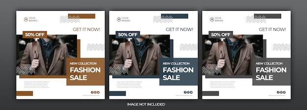 Mode verkoop sociale media post en web-sjabloon voor spandoek met zomer concept