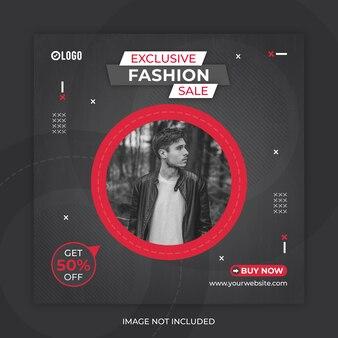 Mode verkoop sociale media post of sjabloon voor spandoek