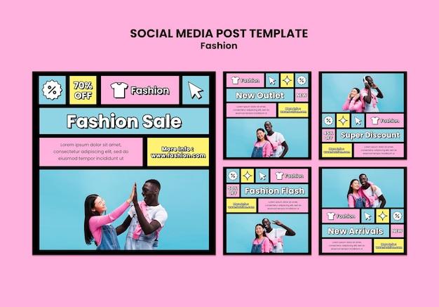 Mode verkoop sociale media post-sjabloon