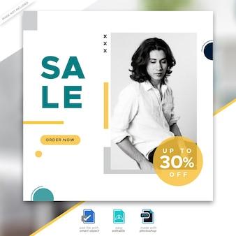 Mode verkoop sociale media post sjabloonontwerp