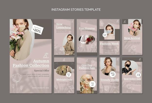 Mode verkoop sociale media verhalen