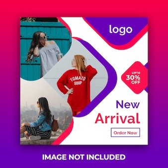 Mode verkoop sociale media vierkante banner psd-sjabloon