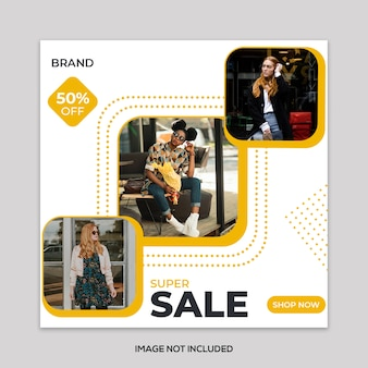 Mode verkoop vierkante banner