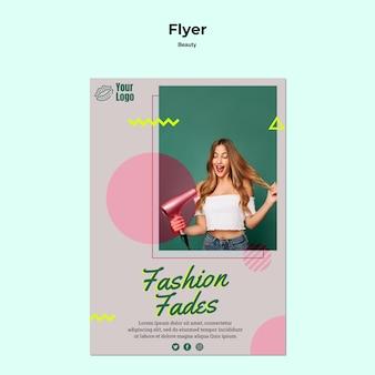 Mode vervaagt concept flyer concept