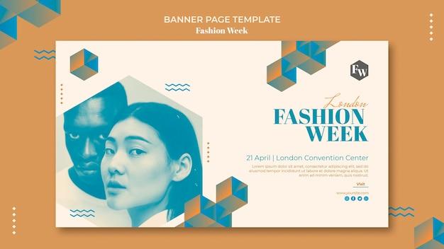 Mode week banner sjabloon stijl