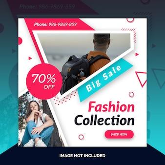 Mode winkel instagram post sjabloon