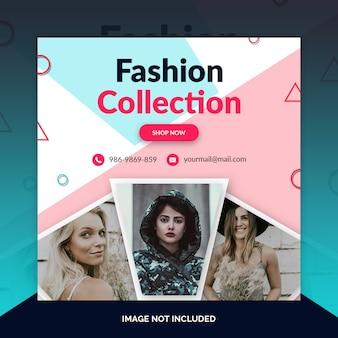Mode winkel instagram post, vierkante banner