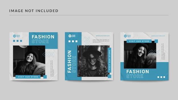 Mode winkel instagram postsjabloon