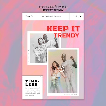 Mode winkel sjabloon poster